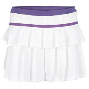 LITTLE MISS TENNIS GIRLS PLEATED TENNIS SKORT WHITE/PURPLE
