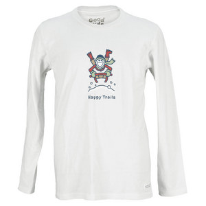 LIFE IS GOOD BOYS HAPPY TRAILS SLED LONG SLVE TEE WHT
