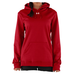 UNDER ARMOUR Women`s Fleece Hoody Red