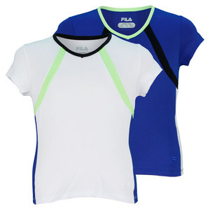 FILA GIRLS CENTER COURT CAP SLEEVE TENNIS TOP