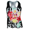LUCKY IN LOVE Women`s Shades of Tennis Tank Black