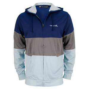 TRAVISMATHEW MENS RICKET 2.0 TENNIS HOODIE BLUE