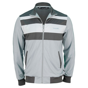 TRAVISMATHEW MENS JEFFEREYS TENNIS JACKET LIGHT GRAY