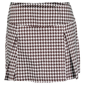 BOLLE WOMENS KAHLUA 14 IN SKORT HOUNDSTOOTH