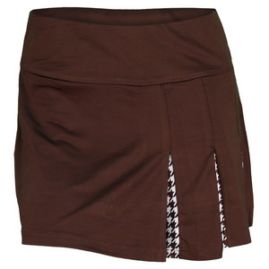 BOLLE WOMENS KAHLUA PLEATED 14 IN SKORT COCOA