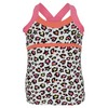 LUCKY IN LOVE Girls` Rainbow Leopard Tennis Cami Print