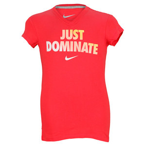 NIKE GIRLS DOMINATE V NECK TEE