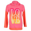 LUCKY IN LOVE Girls` Love Sleeve Tennis Hoodie Pink