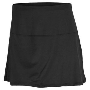 LUCKY IN LOVE WOMENS TUMMY CONTROL TENNIS SKIRT BLACK