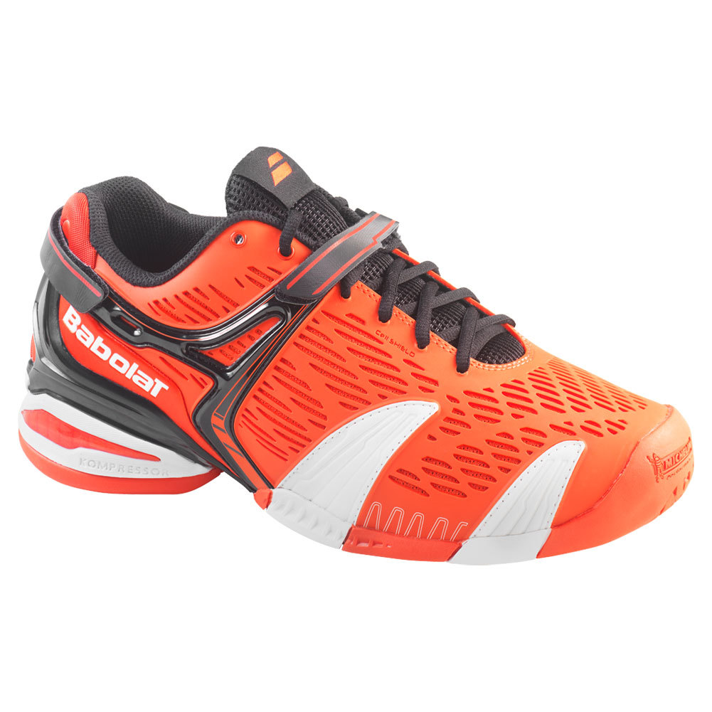 babolat s propulse 4 all court tennis shoes orange