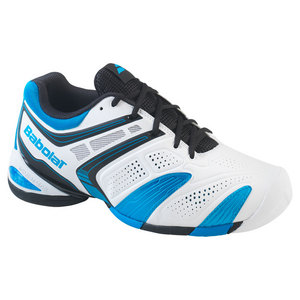 BABOLAT MENS V PRO 2 ALL COURT SHOES WHITE/BLUE