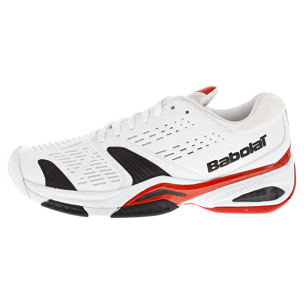 BABOLAT Men`s SFX All Court Tennis Shoes White and Red