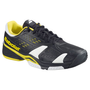 BABOLAT MENS SFX TEAM ALL COURT SHOES BLACK/YLLW