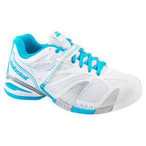 BABOLAT WOMENS PROPULSE 4 ALL COURT SHOES WH/BL