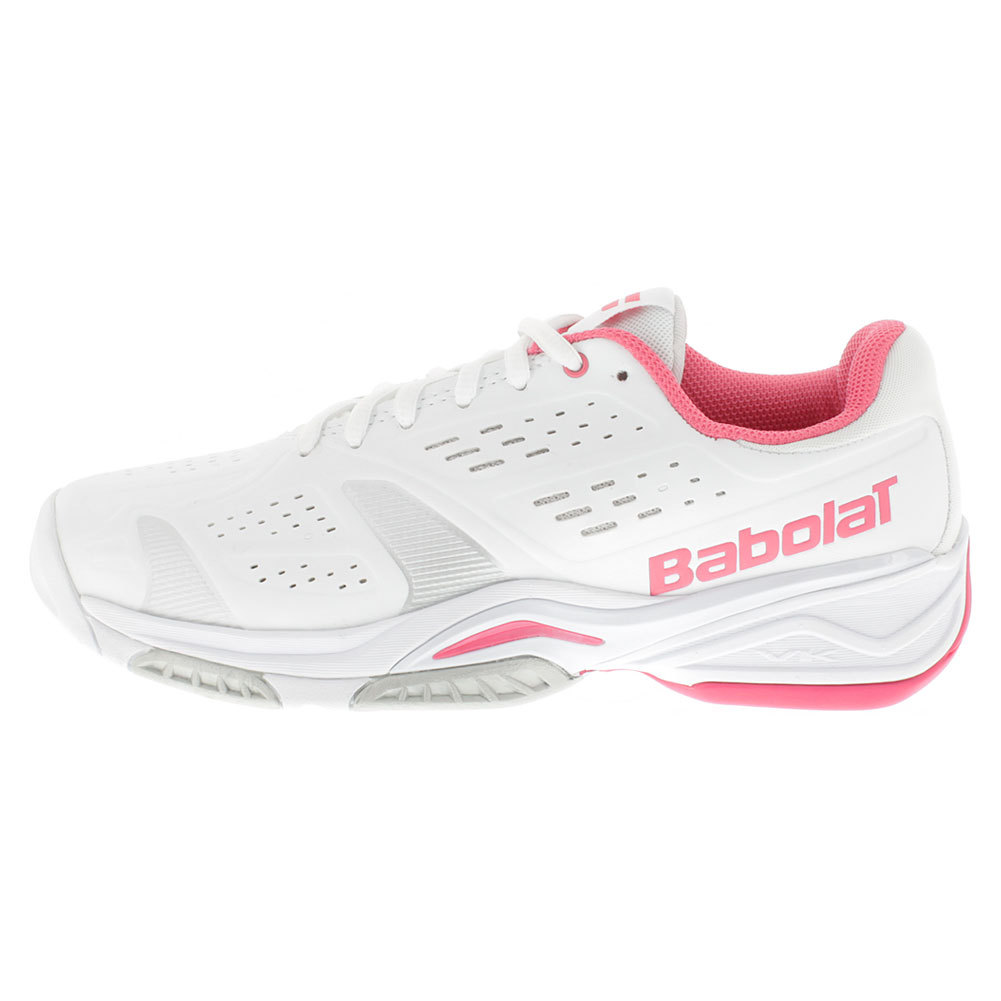 Babolat Women's SFX Team All Court Tennis Shoes White and Pink - Tennis Express