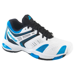 BABOLAT JUNIORS V PRO 2 TENNIS SHOES WHITE/BLUE