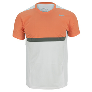 NIKE MENS PREMIER RAFA TENNIS CREW WH/ORANGE