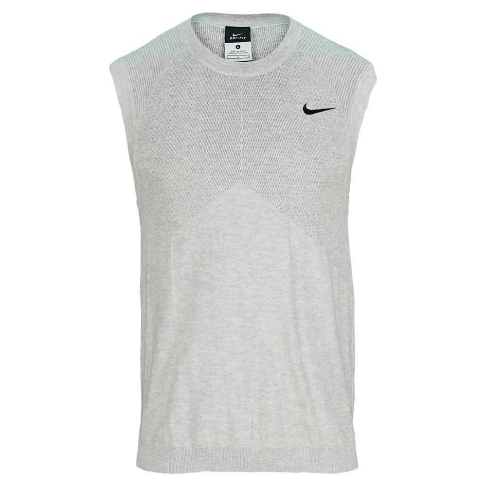 Men`s Tennis Sweater Vest The Nike Mens Tennis Sweater Vest features lightweight wool fabric and knit side panels for ventilation and breathability