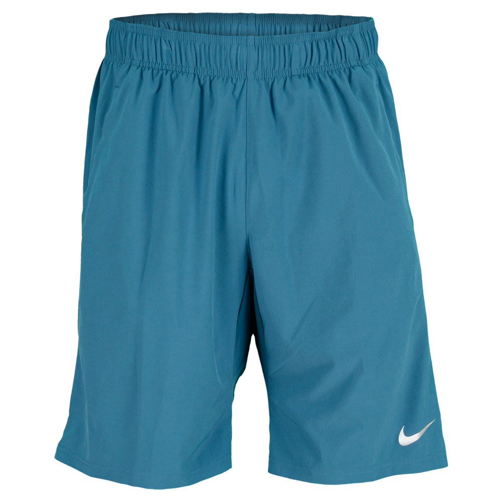 Men`s 2-In-1 10 Inch Tennis Short The Nike Mens 2in1 10 Inch Tennis Shorts features DriFIT textured woven fabric a DriFIT contrast stretch jersey inner short and an elastic waist with Nike tennis drawcord with side pockets