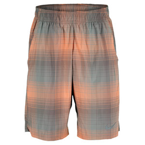 NIKE MENS GLADIATOR 10 IN PLAID SHORT ORAN/GN