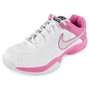 NIKE WOMENS AIR CAGE COURT SHOES WH/RD VIOLET