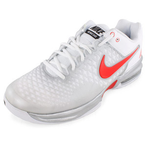 NIKE MENS AIR MAX CAGE SHOES MET SILV/WH