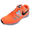 Men`s Air Vapor Advantage Tennis Shoes Atomic Orange and Metallic Silver by NIKE