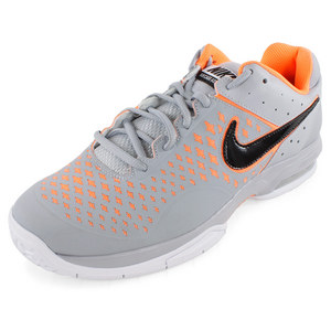 NIKE MENS AIR CAGE ADVANTAGE SHOES GRAY/ORAN