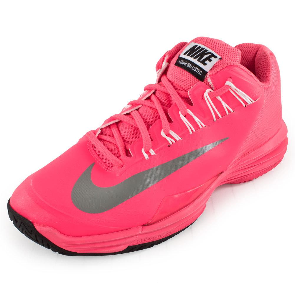 nike s lunar ballistec tennis shoes pink flash