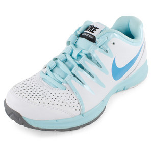 NIKE WOMENS VAPOR COURT SHOES WHITE/GLAC ICE
