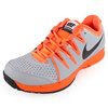 Men`s Vapor Court Tennis Shoes Wolf Gray and Atomic Orange by NIKE