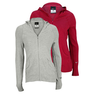 NIKE WOMENS KNIT SWEATER TENNIS JACKET