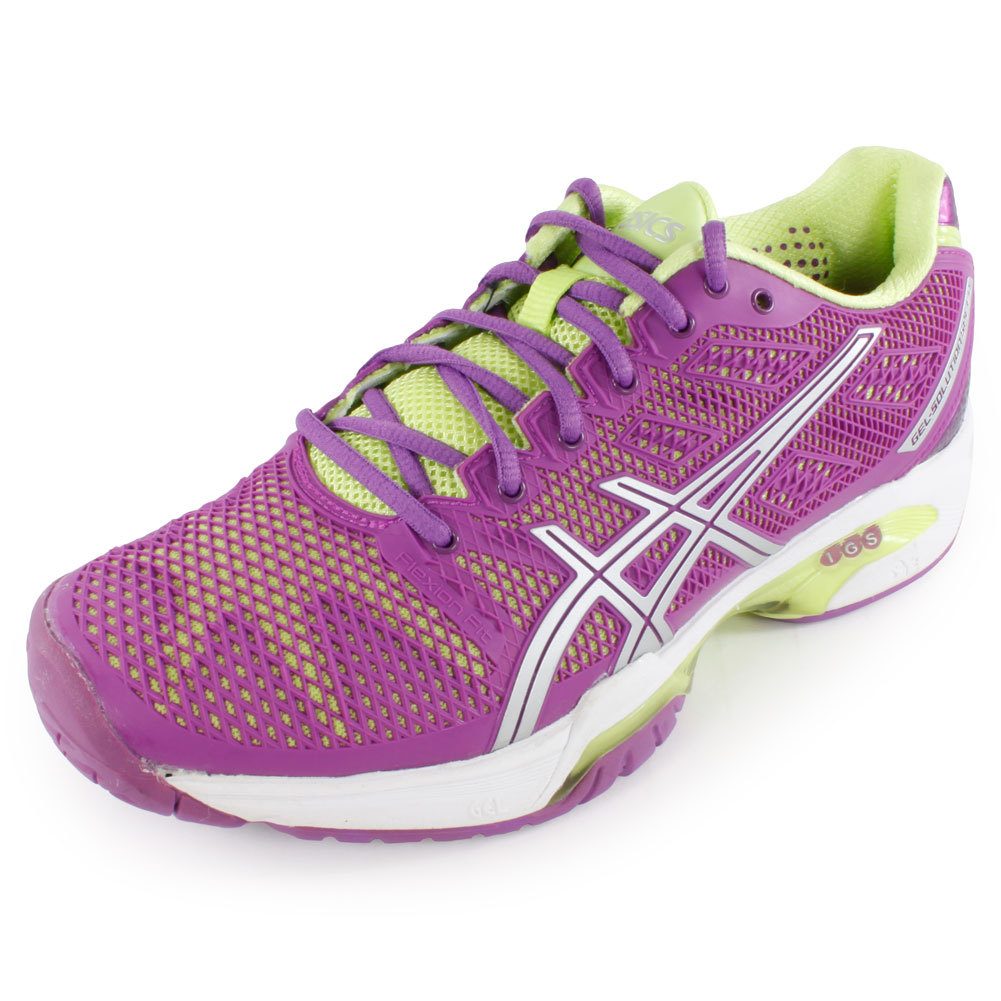 Women's Gel Solution Speed 2 Tennis Shoes Grape And Silver