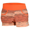 Women`s Victory Printed Tennis Short Turf Orange by NIKE