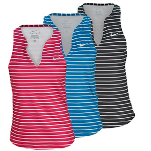 NIKE WOMENS STRIPE PURE TENNIS TANK