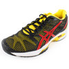 Men`s Gel Solution Speed 2 Tennis Shoes Black and Yellow by ASICS