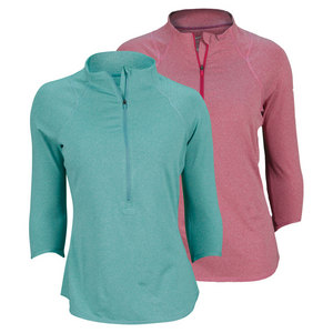 NIKE WOMENS BASELINE 1/2 ZIP TENNIS TOP