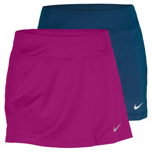 NIKE WOMENS STRAIGHT KNIT 13 IN TENNIS SKIRT