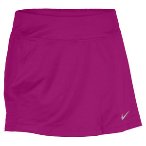 NIKE WOMENS STRAIGHT KNIT 14 IN TENNIS SKIRT
