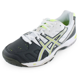 ASICS WOMENS GEL GAME 4 TENNIS SHOES CHAR/SILV