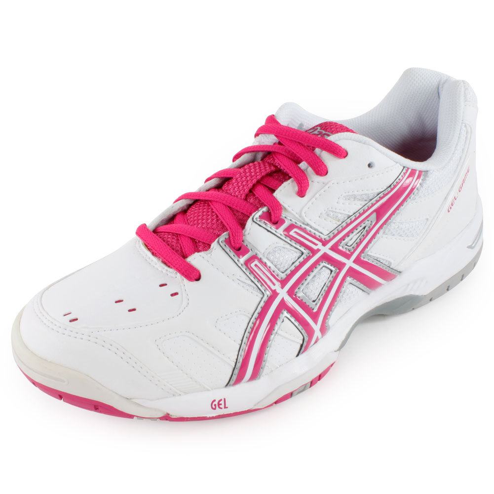 Women's Gel Game 4 Tennis Shoes White And Fuchsia