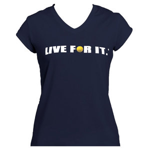 Women`s Cap Sleeve Tennis Top Navy