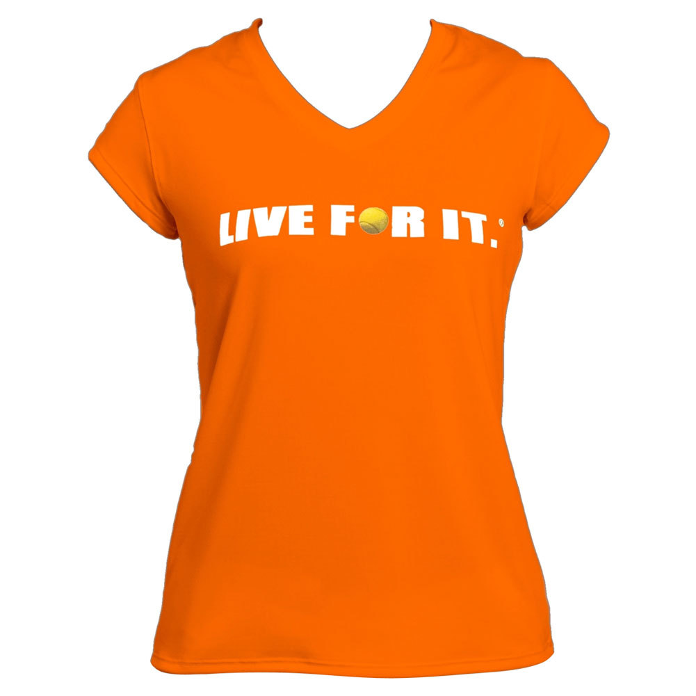 Women's Cap Sleeve Tennis Top Orange