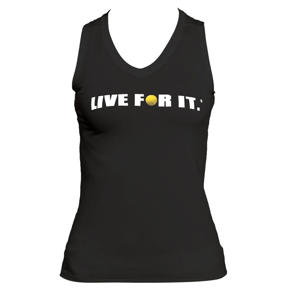 Women's Sleeveless Tennis Tee Black