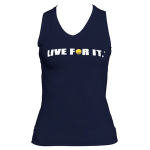 Women`s Sleeveless Tennis Tee Navy