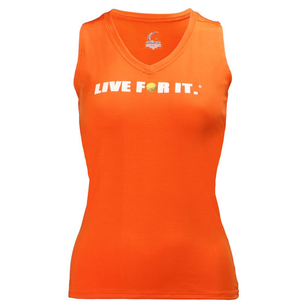 Women's Sleeveless Tennis Tee Orange