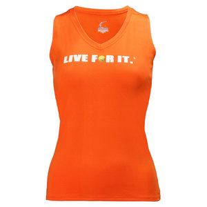 Women`s Sleeveless Tennis Tee Orange
