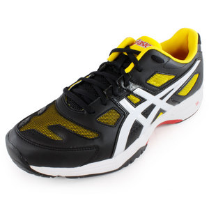 ASICS MENS GEL SOLUTION SLAM 2 TNS SHOES BK/YL