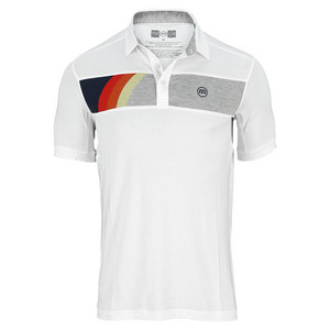 TRAVISMATHEW MENS HEAT TENNIS POLO WHITE
