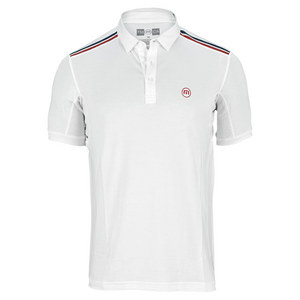 TRAVISMATHEW MENS HUSTLER TENNIS POLO WHITE